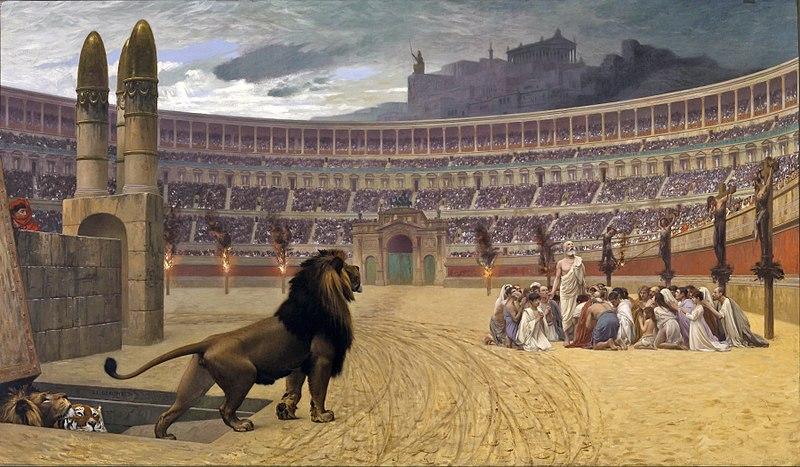 800px-Jean-Léon_Gérôme_-_The_Christian_Martyrs'_Last_Prayer_-_Walters_37113 no copyright